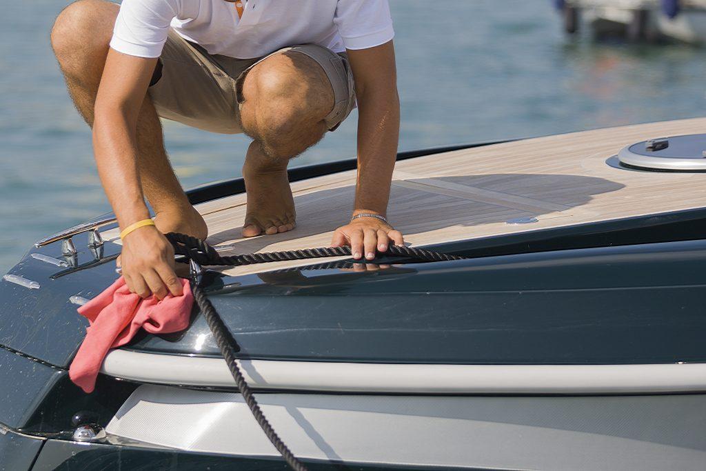 Man on boat | NetGain Marine - Yacht Sales